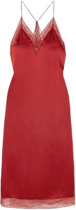 Jonathan Simkhai Lace-trimmed Satin Midi Slip Dress