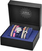 Fossil Women's Georgina Blue Leather Wrap Strap Watch & Interchangeable Straps Box Set 26mm ES4095SET