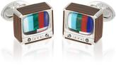 Jan Leslie Retro TV Sterling Silver Cufflinks