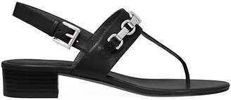 MICHAEL Michael Kors Charlton Leather Slingback Thong Sandals