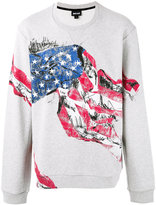 Just Cavalli flag print sweatshirt - men - Cotton/Polyester - M