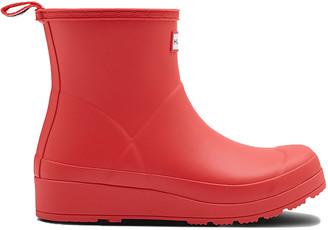 Hunter Womens Original Play Boot Short Red Womens Original Play Boot Short Red - Red, UK 4
