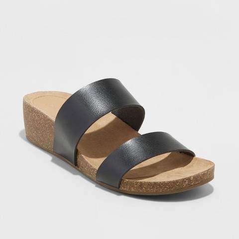 Universal Thread Women's Kerryl Wedge Footbed Slide Sandals