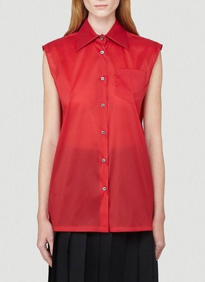 Prada Pocket Sleeveless Shirt