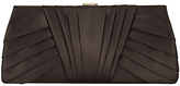 Phase Eight Nina Satin Clutch Bag, Chocolate