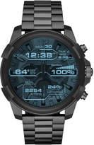 Diesel On Men's Full Guard Gunmetal Stainless Steel Bracelet Smart Watch 48mm