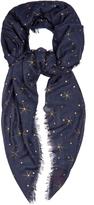 Valentino Star-print cashmere-blend scarf
