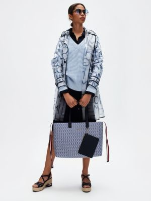 Tommy Hilfiger Rope Print Rain Trench Coat
