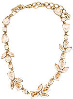 Oscar de la Renta Bold Golden Crystal Teardrop Necklace