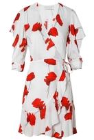 Mason Flutter Sleeve Wrap Dress