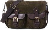 Ralph Lauren Olive Suede Messenger Bag
