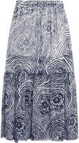 See by Chloe Printed silk-organza maxi skirt