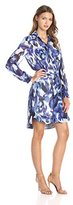 Eliza J Women's Printed Shirt Dress