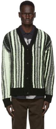 032c Black and Yellow Knit Logo Cardigan