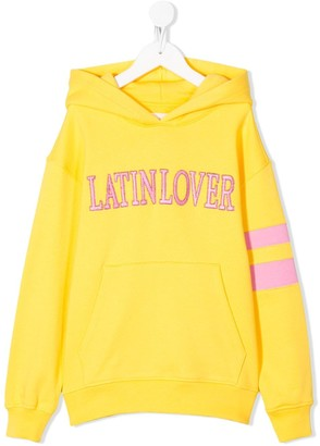 Alberta Ferretti Kids Latin Lover embroidered hoodie
