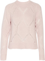 Tanya Taylor Ella pointelle-trimmed wool and silk-blend sweater