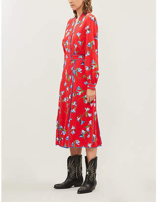 Rag & Bone Hugo Floral-Print Crepe Midi Dress