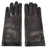 Gucci Gg Embossed Leather Gloves