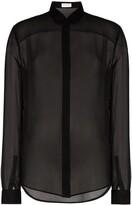 Saint Laurent sheer button front shirt