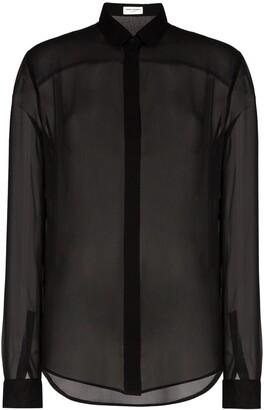 Saint Laurent Sheer Button-Up Shirt