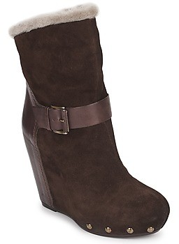 VIC ANAIS VILANE women's Low Ankle Boots in Brown