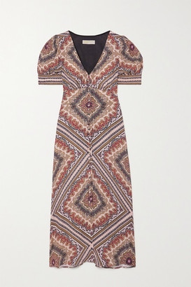 MICHAEL Michael Kors Paisley-print Crepe Midi Dress - Brown