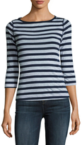 Three Dots British Cotton Boatneck Tee