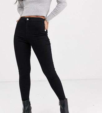 Topshop Petite Joni skinny jeans in black