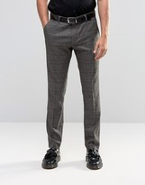 Selected Slim Fit Prince of Wales Pants with Stretch