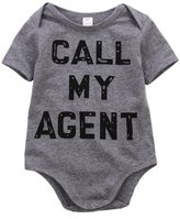Albee Yang Newborn Baby Boys Girls Short Sleeve Romper Bodysuit Playsuit Outfits