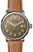 Shinola Men's 47mm Runwell Men's Watch, Dark Gray/Camel