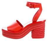 Celine Leather Platform Sandals