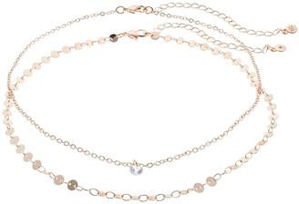 Lauren Conrad Cubic Zirconia Choker Necklace Set