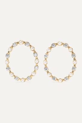 Marlo Laz Full Circle 14-karat Gold, Diamond And Pearl Earrings - one size
