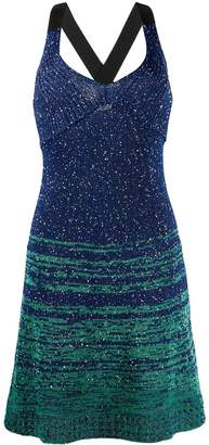 M Missoni V-neck glittered dress