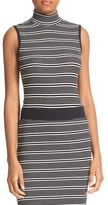 ATM Anthony Thomas Melillo Women's Stripe Mock Neck Tank
