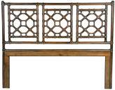 David Francis Furniture Coffee Brown Lattice Headboard, Twin