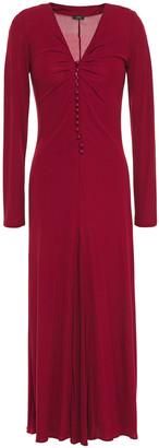 Joseph Marlene Ruched Stretch-crepe Midi Dress
