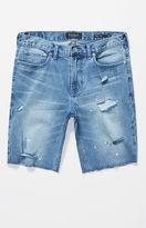 PacSun Skinniest Medium Wash Destroyed Denim Shorts