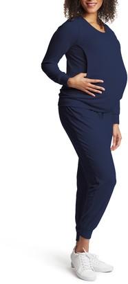 Everly Grey Whitney 2-Piece Maternity/Nursing Lounge Set