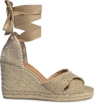Castaner Bluma Linen Espadrille Wedge Sandals