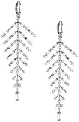 Adriana Orsini Silvertone Cubic Zirconia Lace Flexi Drop Earrings