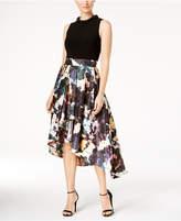 SL Fashions Beaded High-Low Dress