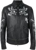 Roberto Cavalli printed studded jacket