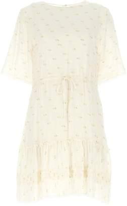 See by Chloe Drawstring Waist Mini Dress