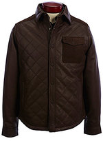 Roundtree & Yorke Lambskin Leather Shirt Jacket