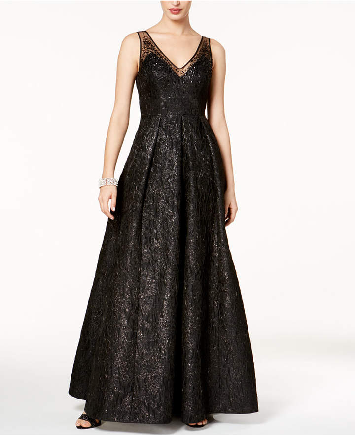 Adrianna Papell Sequined Jacquard Gown