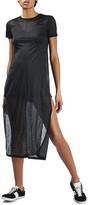 Topshop Women's Shimmer Slit Tunic