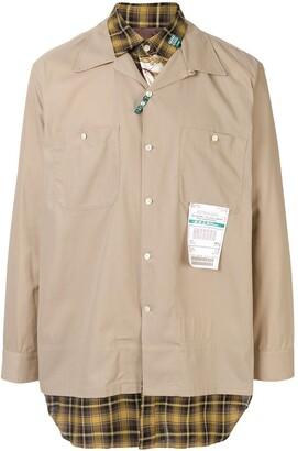 Puma Maison Yasuhiro long sleeved cotton shirt