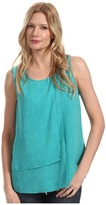 Calvin Klein Jeans Printed Layered Tank (Ocean Green) - Apparel